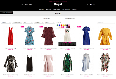 Royal Product page