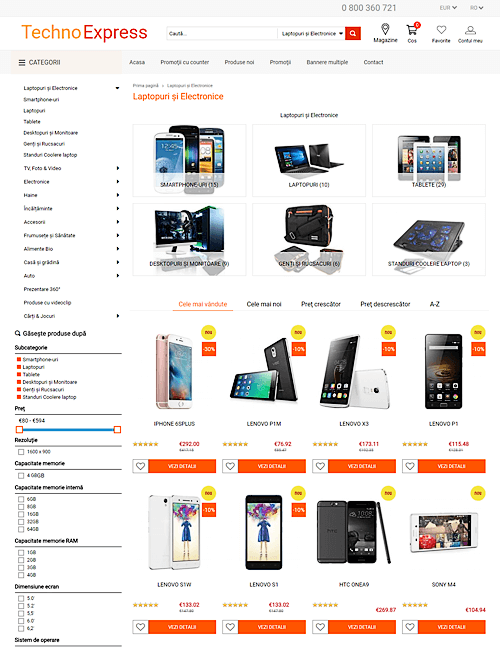 Techno Express Product page
